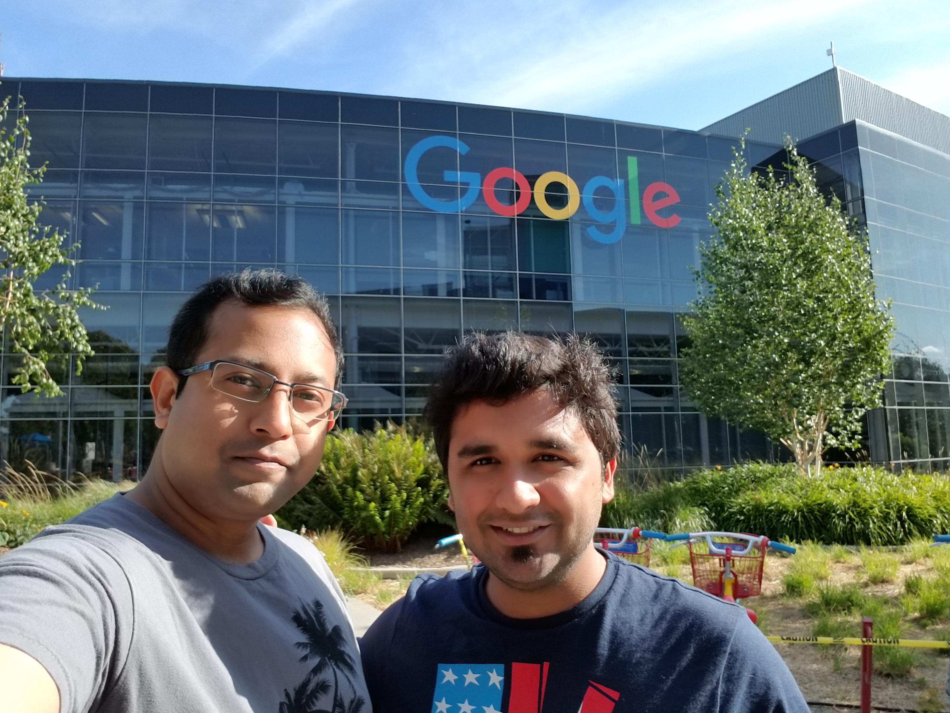 Sayantan Acharjee (MBA '19), Google Intern, and Anand Tamhankar (MBA '19)